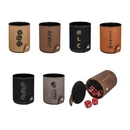 Custom Leatherette Dice Cup with 5 Dice, 3.125