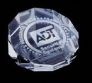 Custom 12 Sided Crystal Slanted Paperweight (Screened)