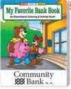 Custom My Favorite Bank Book Coloring Book, 8