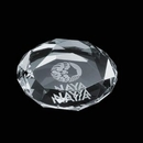 Custom Amherst Octagonal Optical Crystal Paperweight, 2 3/4