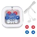 Custom Stow 'N Go Earbud Headphone Travel Set