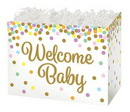 Blank Welcome Baby Confetti Large Basket Box, 10 1/4