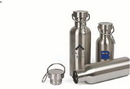 Custom 16 oz stainless steel sports bottle with metal lid and carabiner 16 oz Stainless steel water bottle