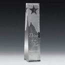 Custom Star Obelisk Optical Crystal Award (2 3/4