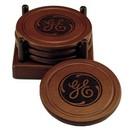 Custom Round Wood 4 Coaster Set, 4