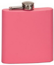 Custom 6 oz. Matte Pink Stainless Steel Flask, 3 3/8