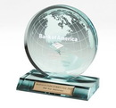 Small Jade Globe Award on Rectangle Base (5