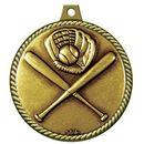 Custom Stock Medal w/ Rope Edge (Baseball General) 2 1/4
