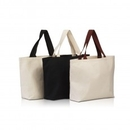 Custom Large Cotton Canvas Beach Bag with Contrasting Handles, 20
