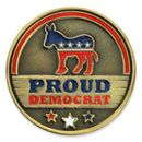 Custom Proud Democrat Pin, 1