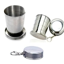 Custom 240 Ml Stainless Steel Travel Folding Collapsible Cup, 3 1/5