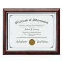 Custom Trent Certificate Frame - Rosewood/Silver 81/4