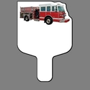 Custom Hand Held Fan W/ Full Color Red Fire Truck, 7 1/2