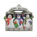 Custom 3D Gallery Print Collection Mini Ornament (Snowmen), 1.875