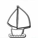 Custom Sailboat Notekeeper Magnet- 35 Mil Process Color (2-7/8