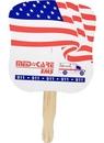 Custom Stock Waving Stars & Stripes Hand Fan