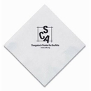 Custom Folded 2 Ply White Beverage Napkin