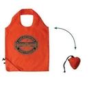 Custom Orange Fold-able Nylon Tote Bag (Screen printed), 15