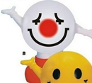 Custom Rubber White Smiley Face Bank w/ Arms & Legs