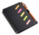 Custom Ultra Notes Black Cardboard Paper Journal Notebook w/ Pen, 6