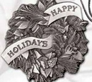 Custom Full Size Stock Design Happy Holidays Pewter Ornament (Wreath), 2.25