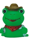 Custom Mini Rubber Cowboy Frog Toy