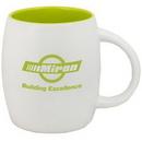 Custom 15 Oz. Puget Mug (Matte white out lime green in)