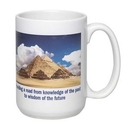 Custom 15 Oz. White El Grande Photo Mug, 4 1/2
