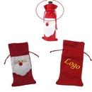 Custom Embroidered Santa Wine Bottle Coat, 15 5/8