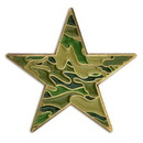 Custom Camouflage Star Pin, 3/4