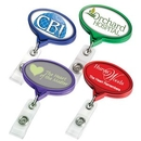 Custom Color Chrome Jumbo Oval Badge Reel (Label), 2.13
