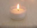 Custom Frosted Glass candle holder, 1.7