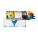 Custom 4 Pack Police Safety Crayons, 3 3/4