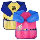 Custom Kids Long Sleeve Aprons With 3 Pockets
