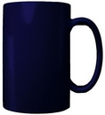 Custom 18 oz. Bismarck Straight Side Mug, Cobalt Blue, 5 3/16