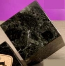 Custom Green Genuine Marble Cube Paperweight (4