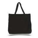 Custom Jumbo canvas tote with canvas handles, 20