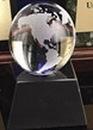 Custom Clear Glass World Globe Award w/ Base (2 1/2