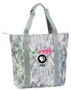 Custom Digital Camo Tote Bag with Zipper (20