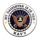 Custom Military - U.S. Navy Daughter Lapel Pin, 1