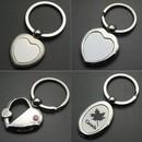Custom Heart Shaped Alloy Key Chain, 1 1/8