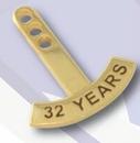 Custom Stock Curved Year Tabs - 25 Year