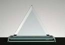 Custom Beveled Triangle Award w/ Base - Jade Glass (10 3/4