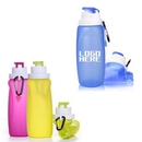 Custom 17oz Collapsible Silicone Water Bottle, 9