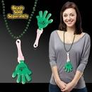 Custom Green & White Hand Clapper W/ Attached J Hook, 7