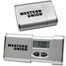 Custom Travel Alarm Clock (Silver), 2 1/4
