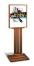 Oak Wood Floor Poster Stand with Slotted Base