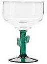 Custom Acapulco Margarita Glass With Green Cactus Stem. 16 Oz. Premium Glass., 6.375