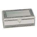 Custom Antique 2-Tier Rectangle Jewelry Box