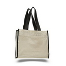 Custom Canvas Gusset Tote with Web Handles, 14